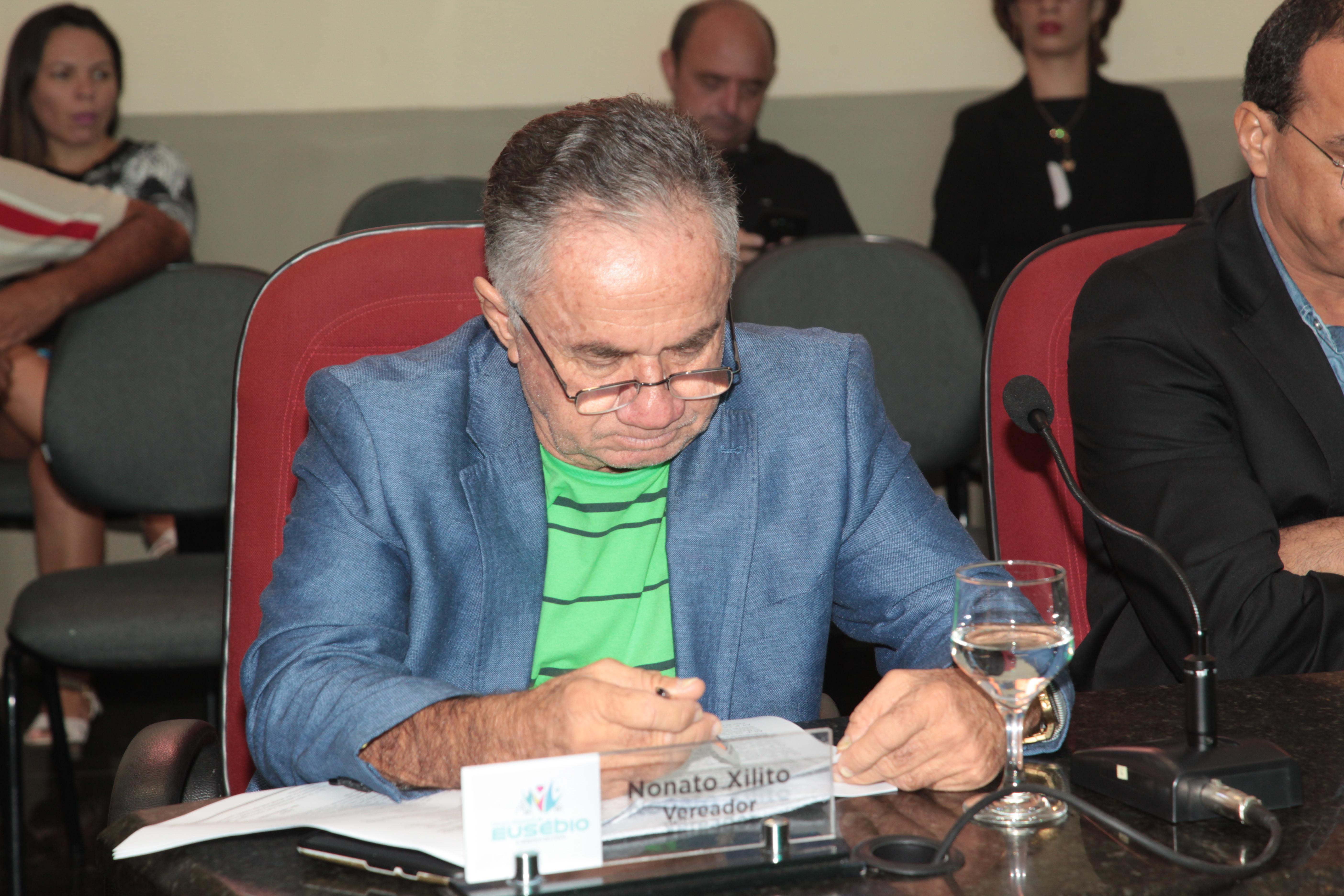 Vereador Nonato Xilito solicita benefícios para o Jabuti