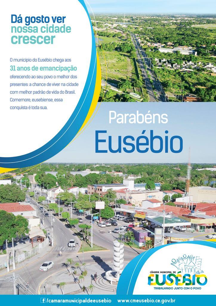 Parabéns Eusébio, pelos seus 31 anos de conquistas e desenvolvimento!
