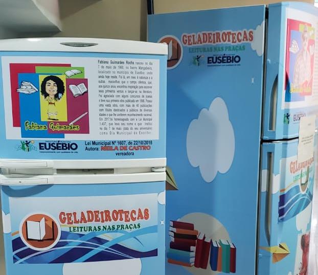Projeto cria Geladeiroteca: leitura nas praças