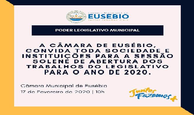 SESSÃO SOLENE DE ABERTURA DOS TRABALHOS DO LEGISLATIVO