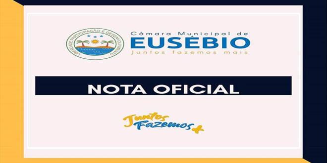 NOTA OFICIAL CÂMARA MUNICIPAL DE EUSÉBIO